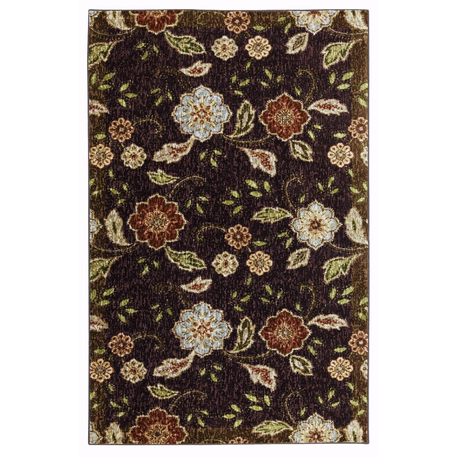 Mohawk Home Heirloom Floral 5-ft x 8-ft Rectangular Tan Transitional Area Rug
