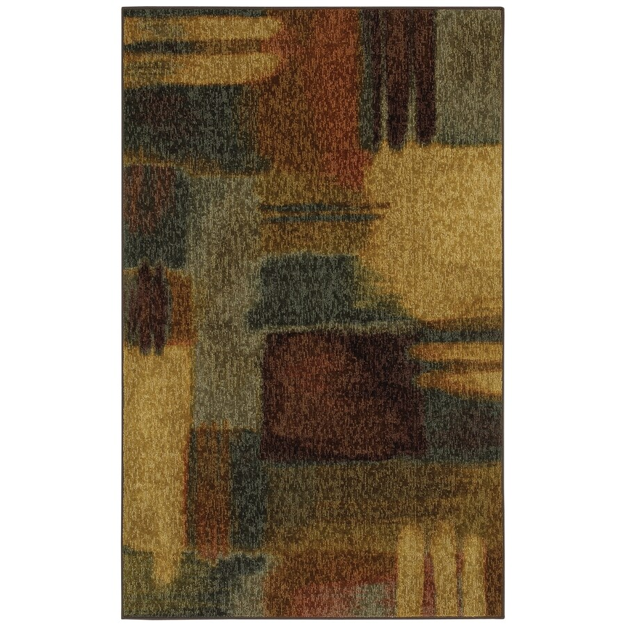 Mohawk Home Montage Multicolor Rectangular Indoor Tufted Throw Rug (Common: 2 x 4; Actual: 24-in W x 40-in L x 0.5-ft Dia)