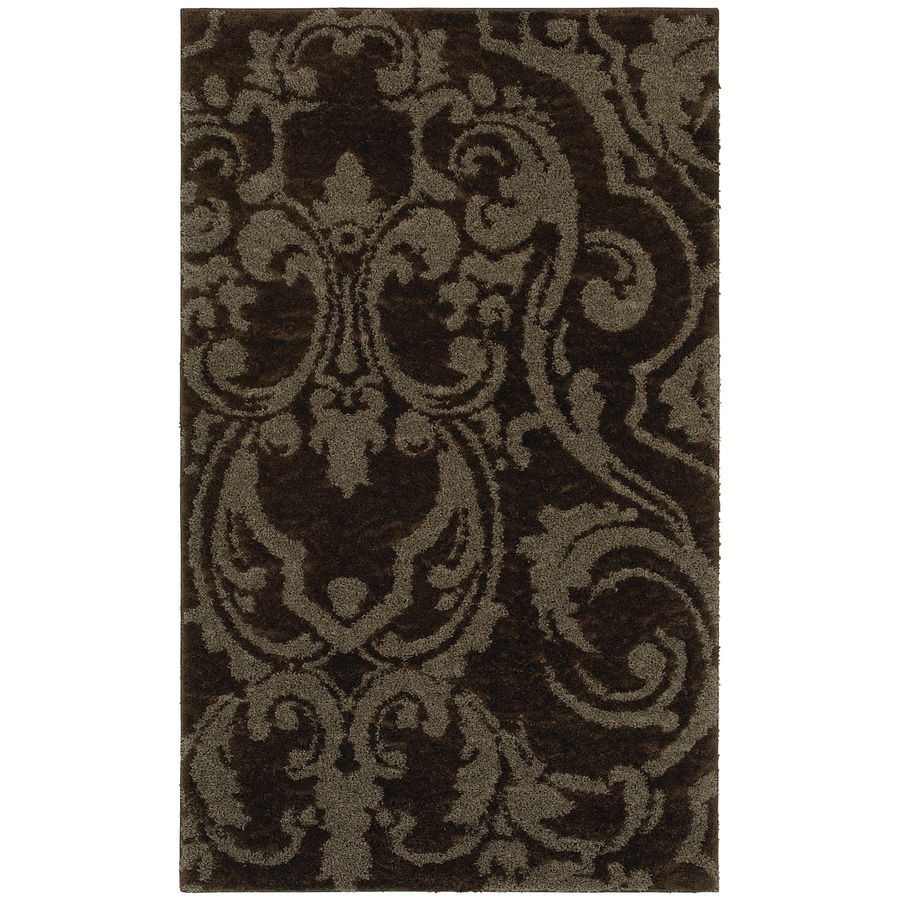 Mohawk Home Wilkshire Mink Lichen Brown Rectangular Indoor Tufted Area Rug (Common: 8 x 10; Actual: 96-in W x 120-in L x 0.5-ft Dia)