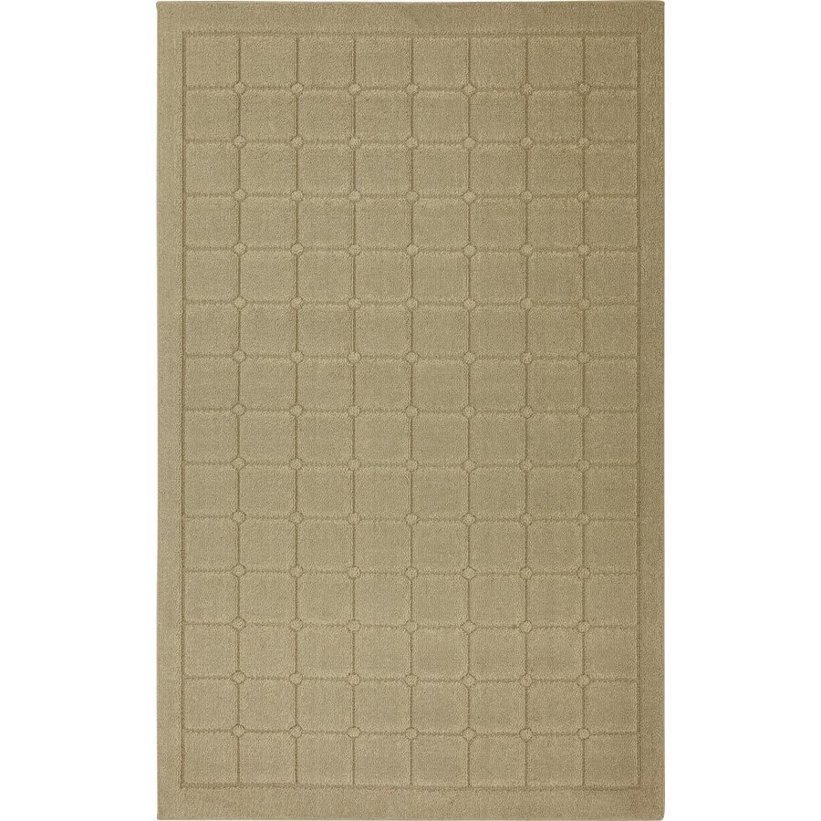 Mohawk Home Linden Squares 5-ft x 8-ft Rectangular Beige Transitional Area Rug