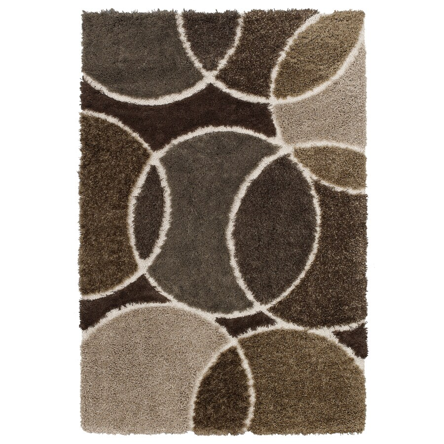 Mohawk Home Eclipse Brown Rectangular Indoor Woven Area Rug (Common: 8 x 10; Actual: 96-in W x 120-in L x 0.5-ft Dia)