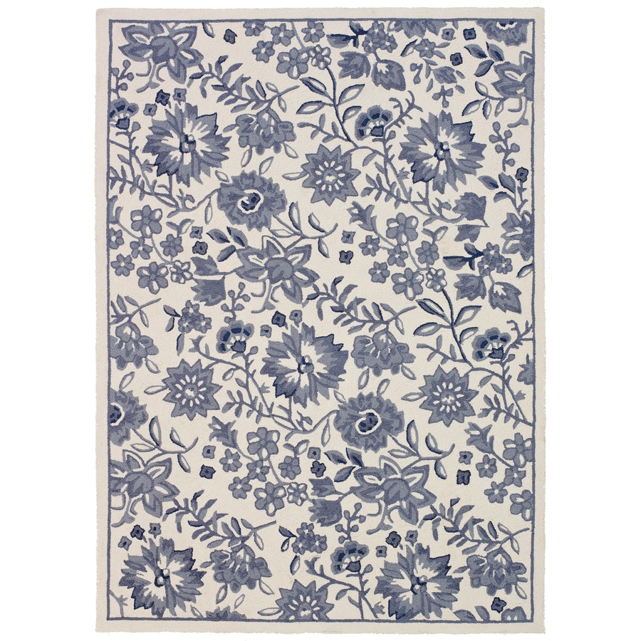 Mohawk Home Cottage Jacobean Multicolor Rectangular Indoor Hand-Hooked Area Rug (Common: 8 x 10; Actual: 96-in W x 120-in L x 0.5-ft Dia)
