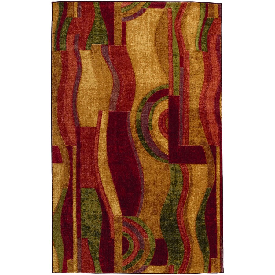 Shop Mohawk Home Picasso Wine Rectangular Indoor Tufted
