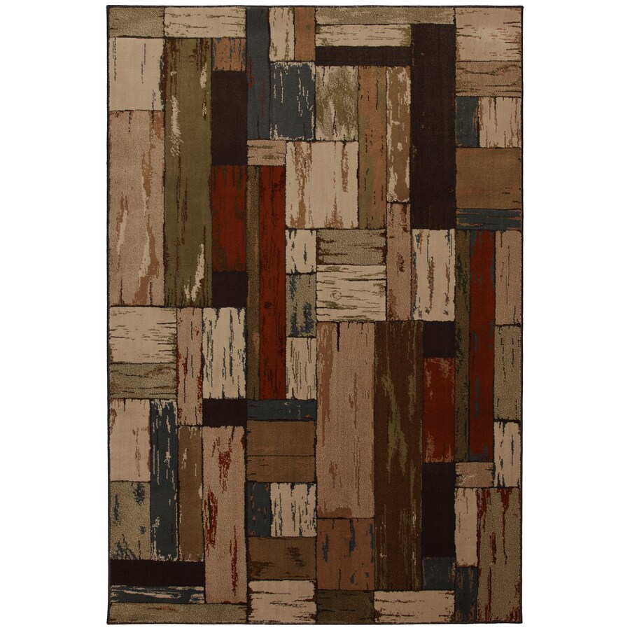 Mohawk Home Bradford Brown Rectangular Indoor Woven Area Rug (Common: 8 x 10; Actual: 96-in W x 120-in L x 0.5-ft Dia)