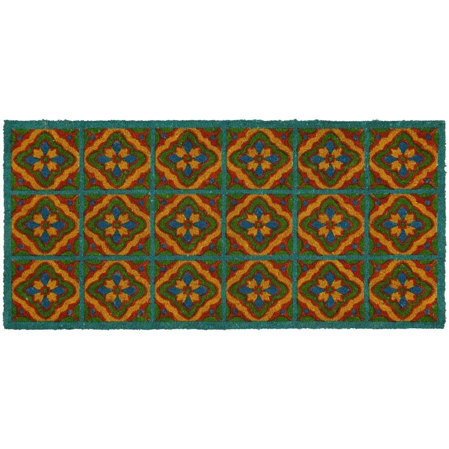 Style Selections Multicolor Rectangular Door Mat (Common: 23-in x 35-in; Actual: 22-in x 47-in)