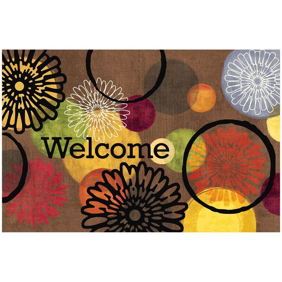Style Selections Multicolor Rectangular Door Mat (Common: 23-in x 35-in; Actual: 23-in x 35-in)