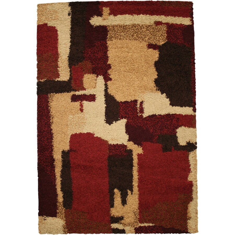 Mohawk Home Anderson Blocks Multi 8-ft x 11-ft Rectangular Red Transitional Area Rug