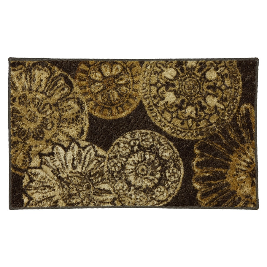 Mohawk Home Emerson Medallion 30-in x 46-in Rectangular Beige Geometric Accent Rug