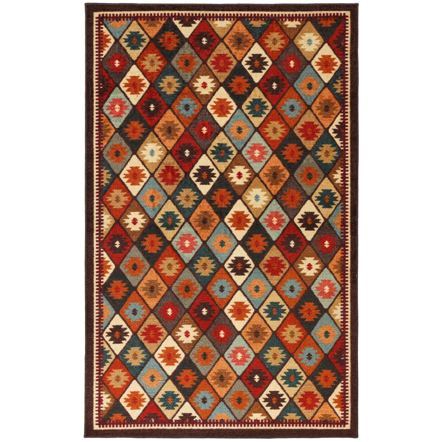 Mohawk Home Qazvin Red Rectangular Indoor Woven Area Rug (Common: 5 x 8; Actual: 60-in W x 96-in L x 0.5-ft Dia)