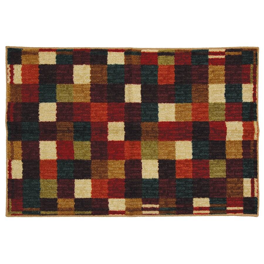Checkerboard Rug: Shop Mohawk Home Vibrant Checkerboard Multicolor