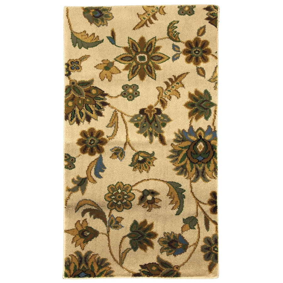 Mohawk Home Blackbourne Rectangular Cream Floral Woven Accent Rug (Common: 2-ft x 4-ft; Actual: 25-in x 44-in)