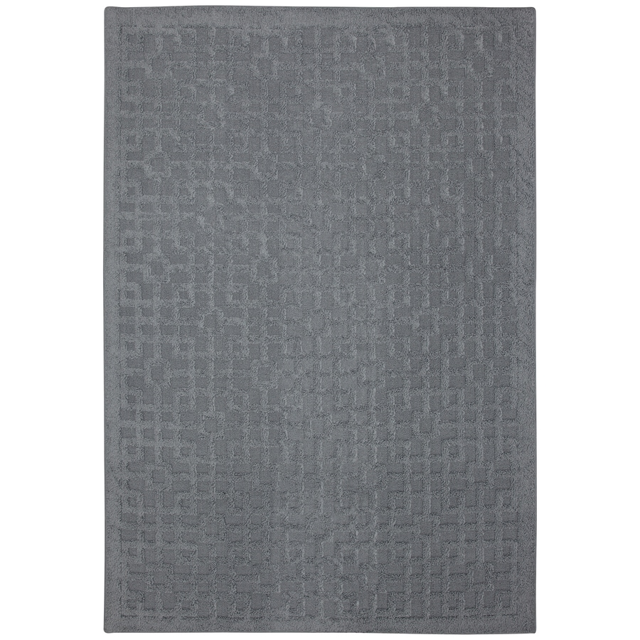 Mohawk Home Salt Box Blue Rectangular Indoor Tufted Area Rug (Common: 5 x 7; Actual: 60-in W x 84-in L x 0.5-ft Dia)