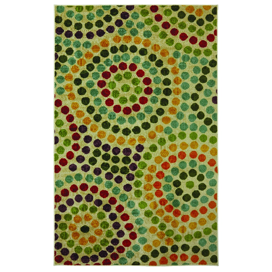 Mohawk Home Mosaic Stones Multicolor Rectangular Indoor Tufted Area Rug (Common: 5 x 8; Actual: 60-in W x 96-in L x 0.5-ft Dia)