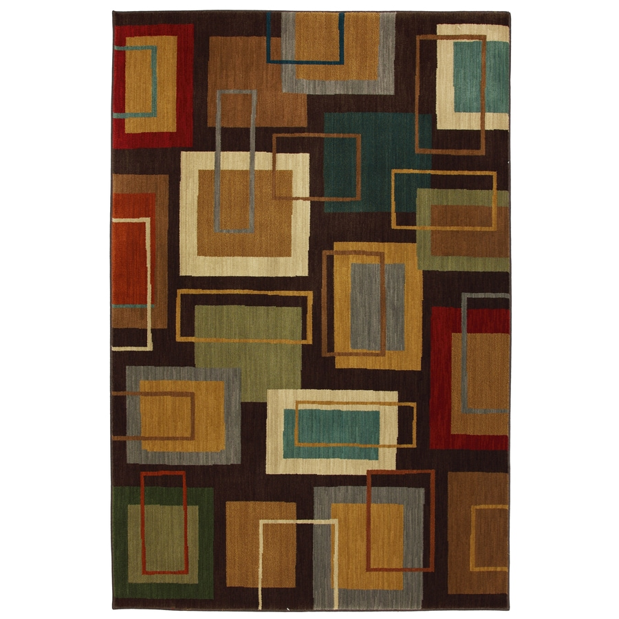 Mohawk Home Windsor Brown Rectangular Indoor Woven Area Rug (Common: 5 x 8; Actual: 63-in W x 94-in L x 0.5-ft Dia)