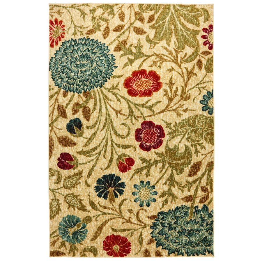 Mohawk Home Bettina Multicolor Rectangular Indoor Tufted Area Rug (Common: 5 x 8; Actual: 60-in W x 96-in L x 0.5-ft Dia)