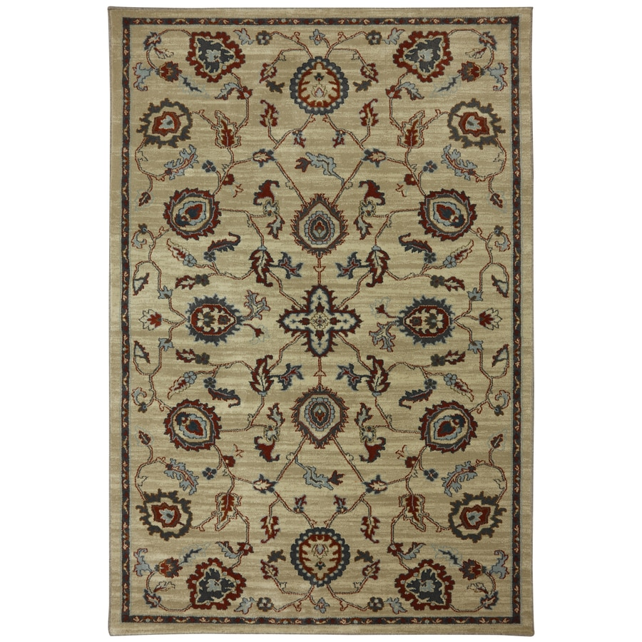 Mohawk Home Gaston Brown Rectangular Indoor Woven Area Rug (Common: 5 x 8; Actual: 63-in W x 94-in L x 0.5-ft Dia)