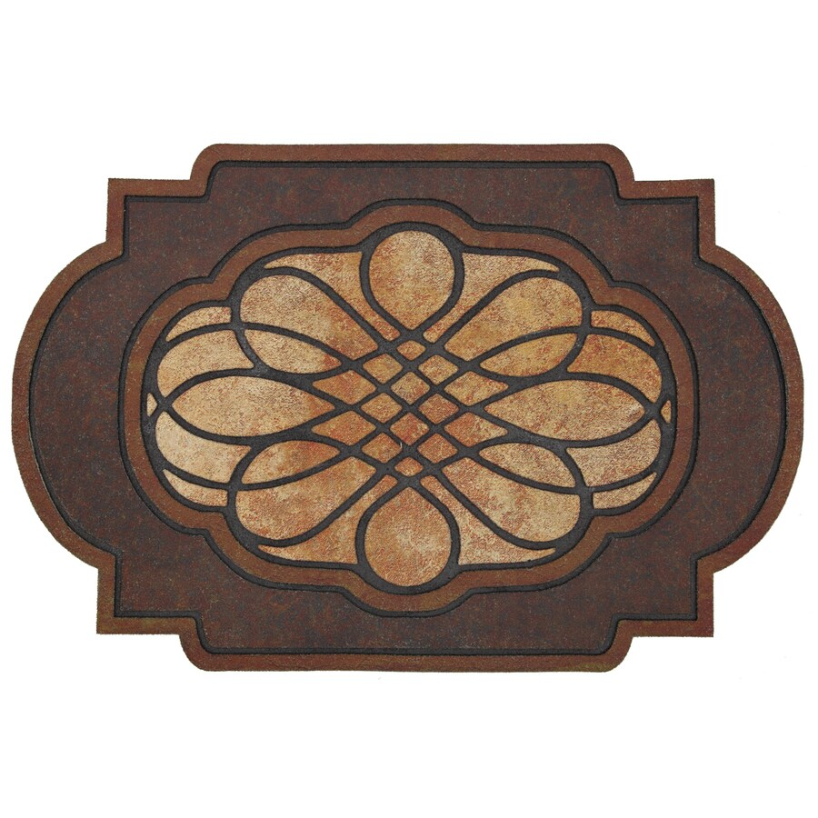 Style Selections Brown/Tan Oval Door Mat (Common: 23-in x 35-in; Actual: 23-in x 35-in)