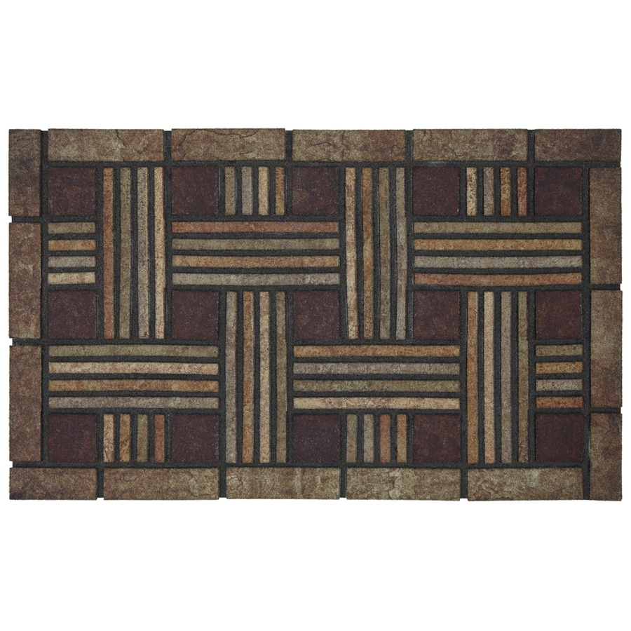 Style Selections Brown/Tan Rectangular Door Mat (Common: 18-in x 30-in; Actual: 18-in x 30-in)
