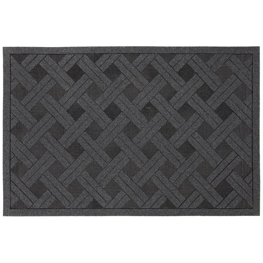 Style Selections Gray/Silver Rectangular Door Mat (Common: 23-in x 35-in; Actual: 23-in x 35-in)