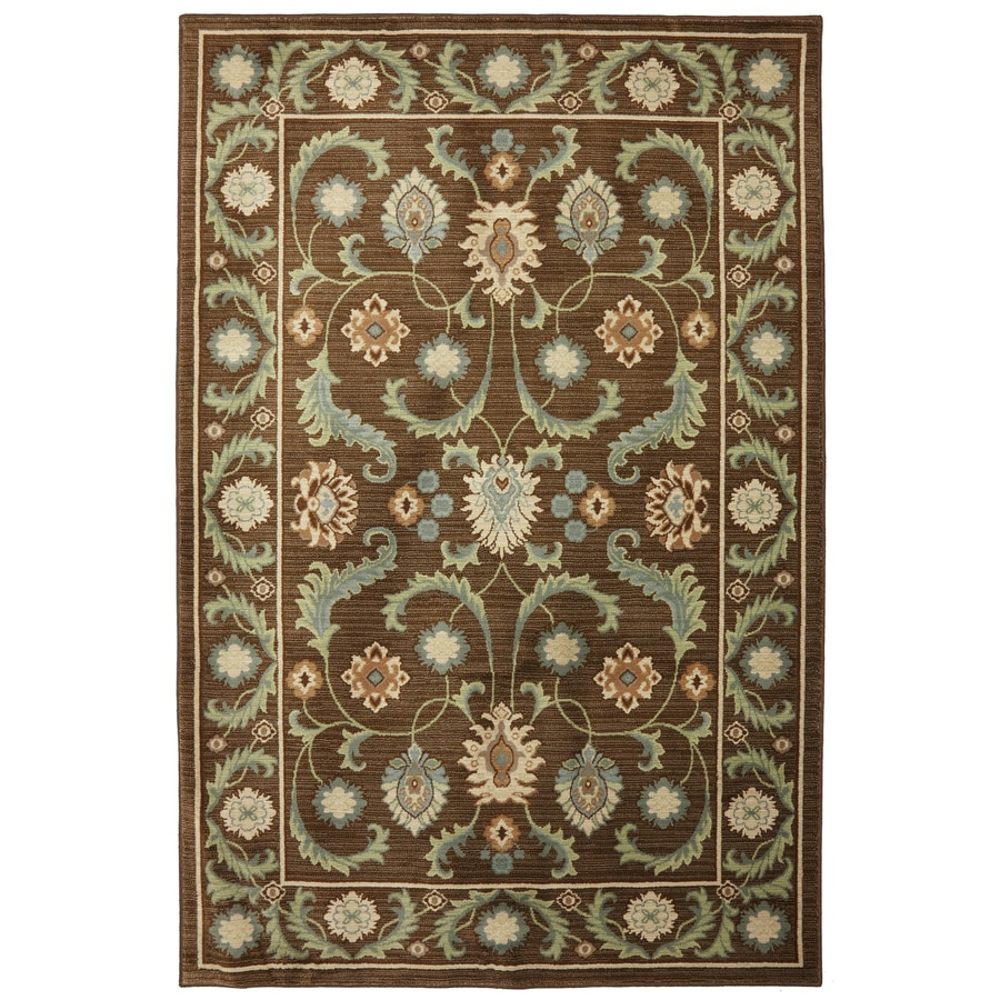 Mohawk Home Leesport Bison Brown Rectangular Indoor Woven Area Rug (Common: 8 x 11; Actual: 96-in W x 132-in L x 0.5-ft Dia)
