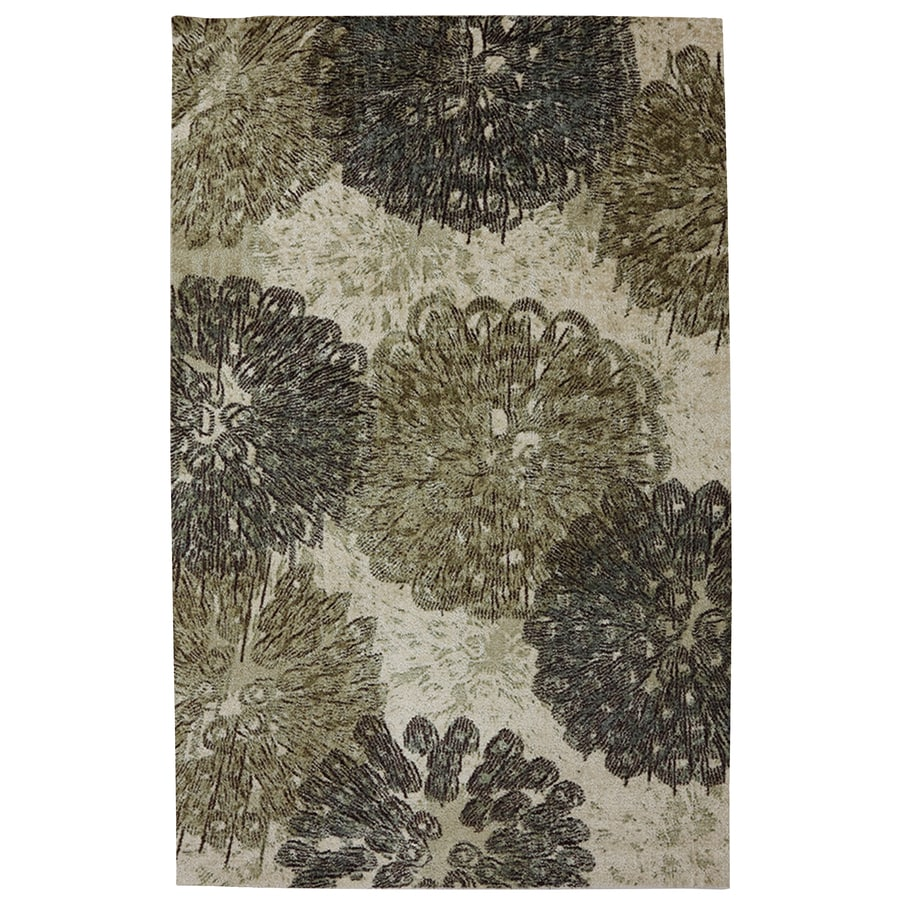 Mohawk Home Poppy Oversize Gray Rectangular Indoor Tufted Area Rug (Common: 8 x 10; Actual: 96-in W x 120-in L x 0.5-ft Dia)