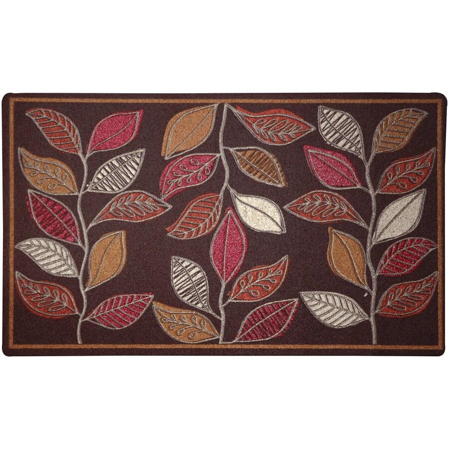 Mohawk Home Brown/Tan Rectangular Door Mat (Common: 18-in x 30-in; Actual: 18-in x 30-in)