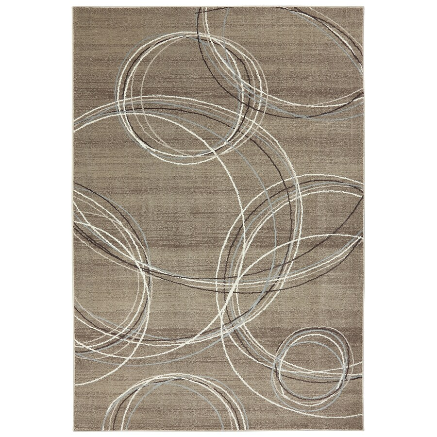 Mohawk Home Spiral Stratum Dark Beige Brown Rectangular Indoor Woven Area Rug (Common: 8 x 11; Actual: 96-in W x 132-in L x 0.5-ft Dia)