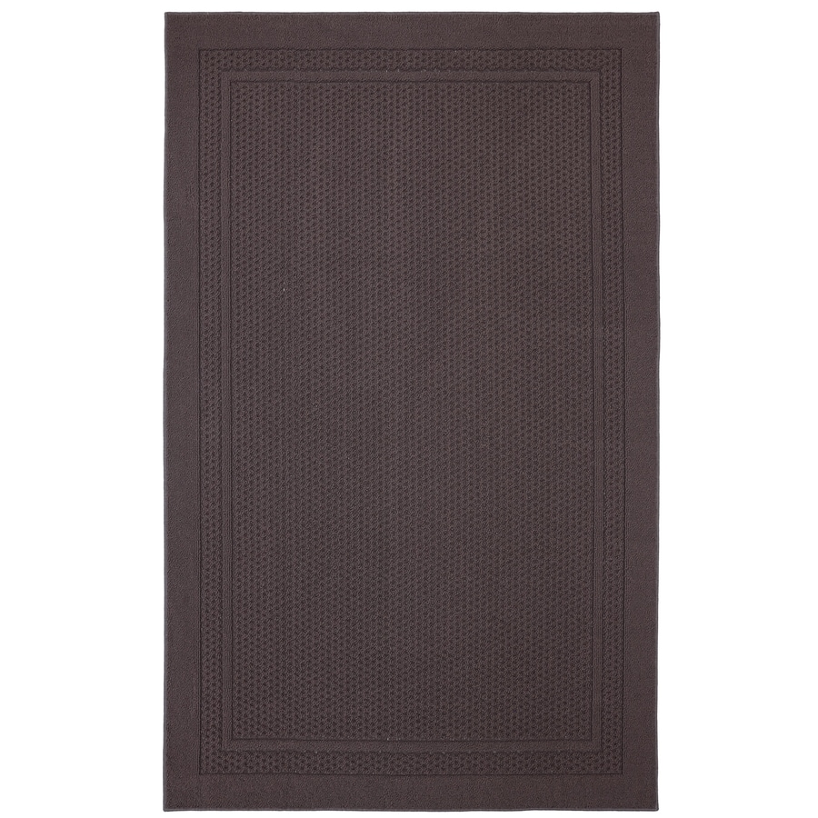 Mohawk Home Honeycomb Border Brown Rectangular Indoor Tufted Area Rug (Common: 5 x 7; Actual: 60-in W x 84-in L x 0.5-ft Dia)