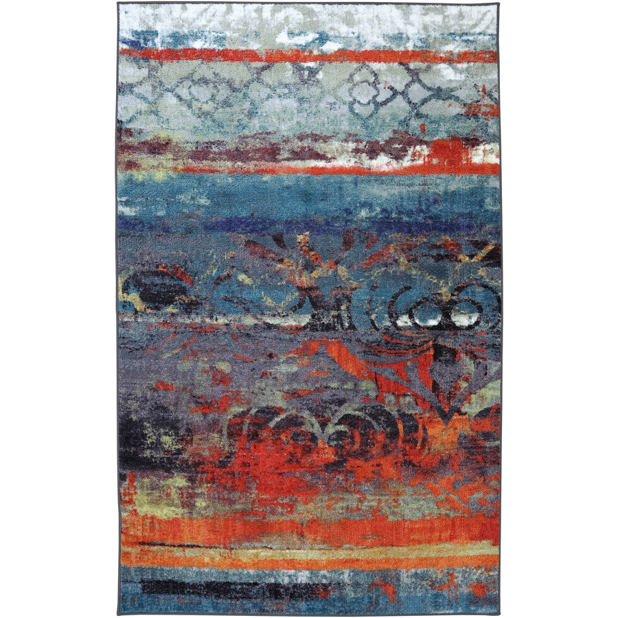 Mohawk Home Eroded Color Rectangular Blue Transitional Tufted Area Rug (Common: 8-ft x 10-ft; Actual: 96-in x 120-in)