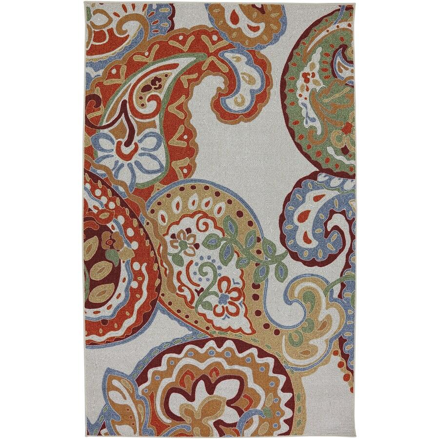 Mohawk Home Paisley Escape Cream Rectangular Indoor Tufted Area Rug (Common: 8 x 10; Actual: 96-in W x 120-in L x 0.5-ft Dia)