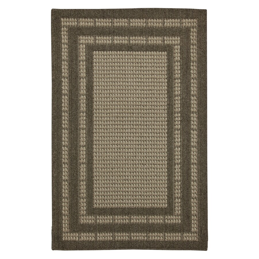 Mohawk Home Villa Rica Brown Rectangular Indoor Tufted Area Rug (Common: 5 x 8; Actual: 60-in W x 96-in L x 0.5-ft Dia)