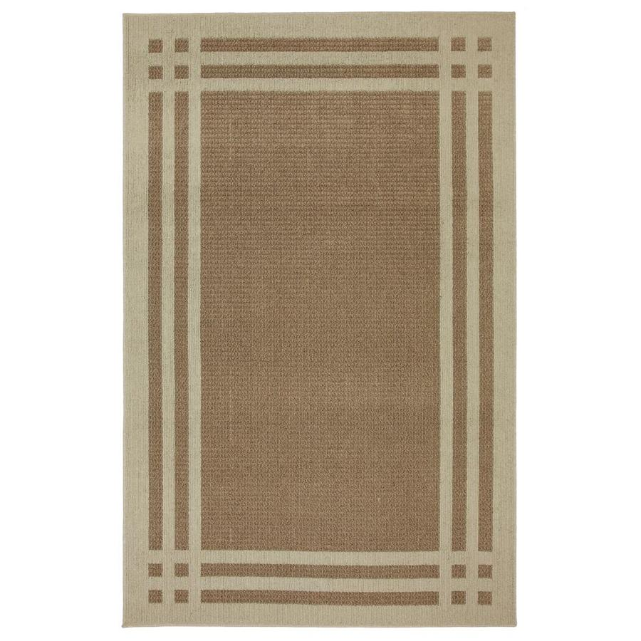 allen + roth Carney Brown Rectangular Indoor Tufted Area Rug (Common: 8 x 10; Actual: 96-in W x 120-in L x 0.5-ft dia)