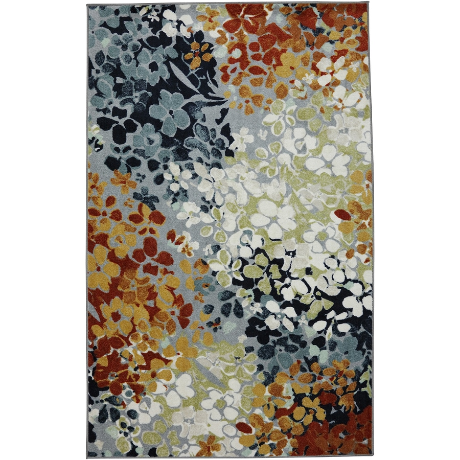 Mohawk Home Radiance Multicolor Rectangular Indoor Tufted Area Rug (Common: 5 x 7; Actual: 60-in W x 84-in L x 0.5-ft Dia)