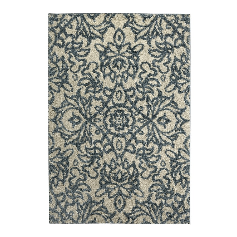 Mohawk Home Spokane Abyss Blue Gray/Silver Rectangular Indoor Woven Area Rug (Common: 8 x 11; Actual: 96-in W x 132-in L x 0.5-ft Dia)