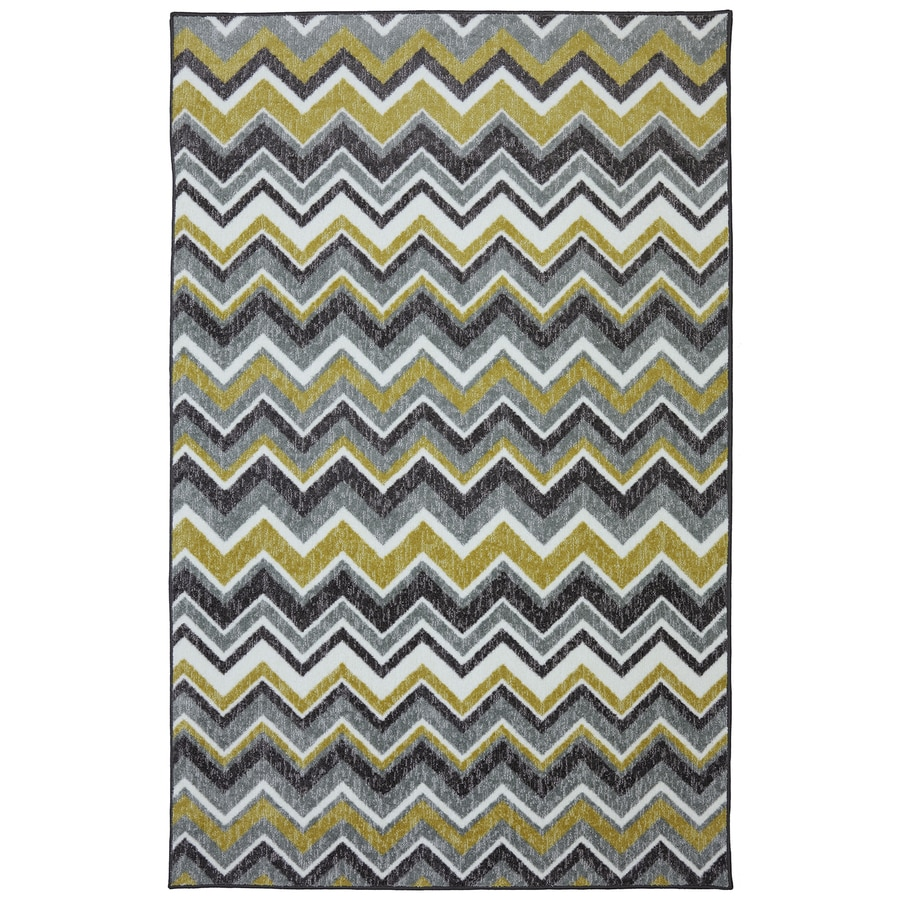 Mohawk Home Ziggidy Grey Rectangular Indoor Tufted Area Rug (Common: 5 x 8; Actual: 60-in W x 96-in L x 0.5-ft Dia)