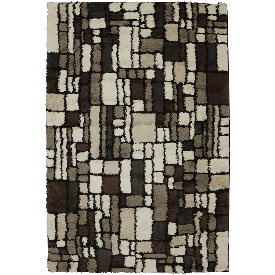 Mohawk Home Soho Cream Rectangular Indoor Woven Area Rug (Common: 8 x 11; Actual: 96-in W x 132-in L x 0.5-ft Dia)