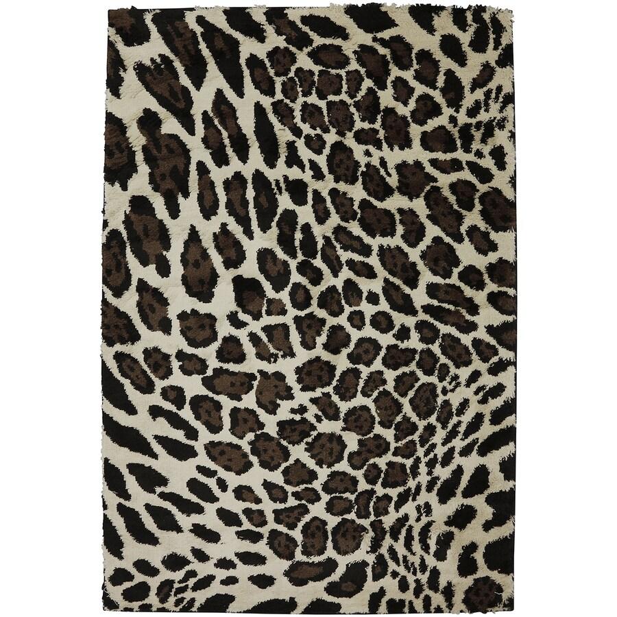 Mohawk Home Cheetah Rectangular Indoor Woven Throw Rug (Common: 3 x 5; Actual: 40-in W x 66-in L x 0.5-ft Dia)