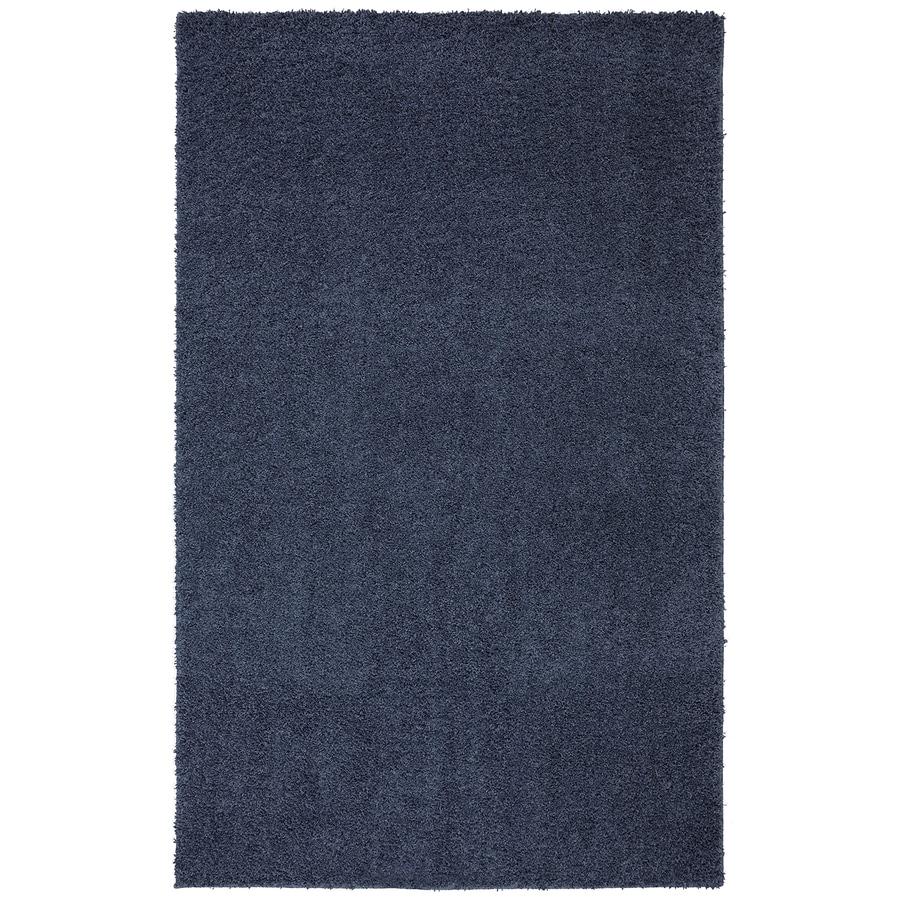 Mohawk Home Modern Shag Twilight Blue Rectangular Indoor Tufted Area Rug (Common: 5 x 8; Actual: 60-in W x 96-in L x 0.5-ft Dia)