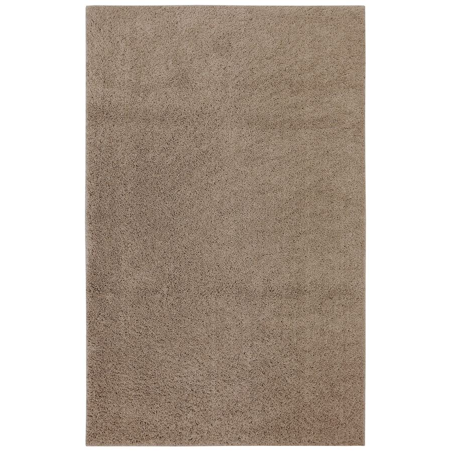 Mohawk Home Modern Shag Coconut Brown Rectangular Indoor Tufted Area Rug (Common: 8 x 10; Actual: 96-in W x 120-in L x 0.5-ft Dia)