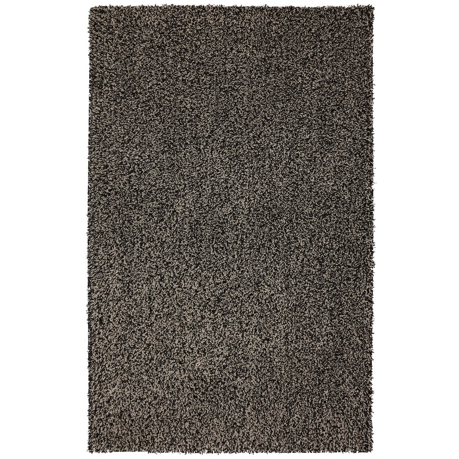 Mohawk Home Vibrations Shag Black Multi Black Rectangular Indoor Tufted Area Rug (Common: 5 x 8; Actual: 60-in W x 96-in L x 0.5-ft Dia)