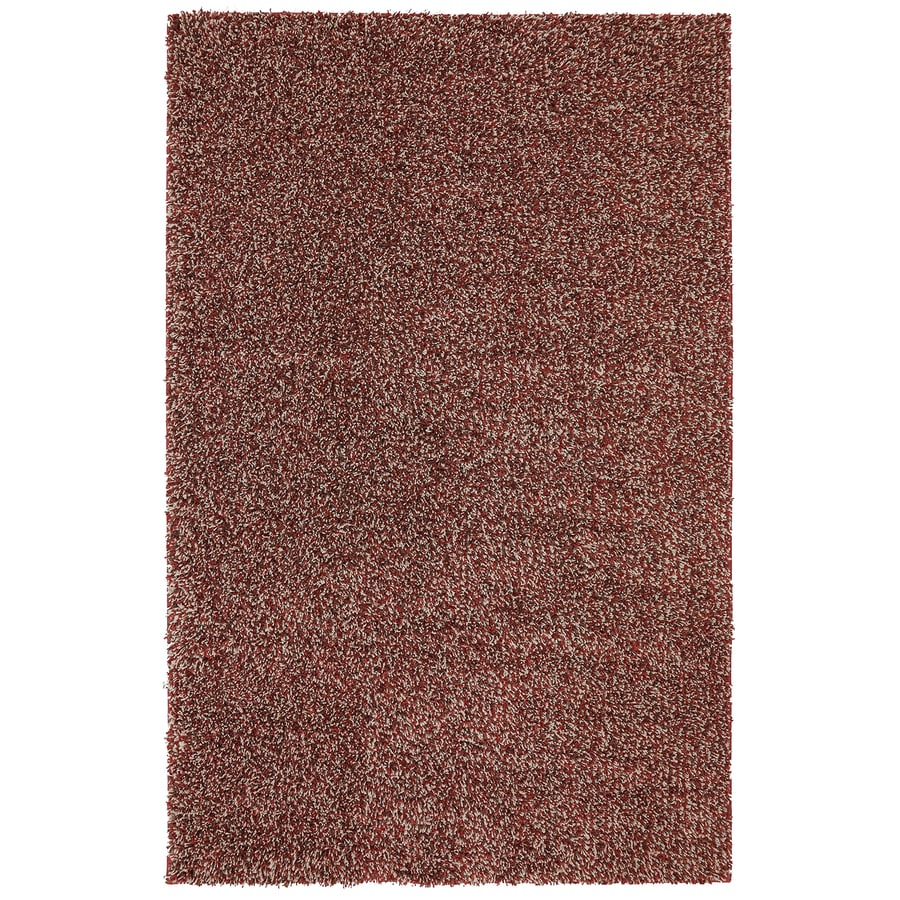 Mohawk Home Vibrations Shag Red Multi Red Rectangular Indoor Tufted Area Rug (Common: 8 x 10; Actual: 96-in W x 120-in L x 0.5-ft Dia)