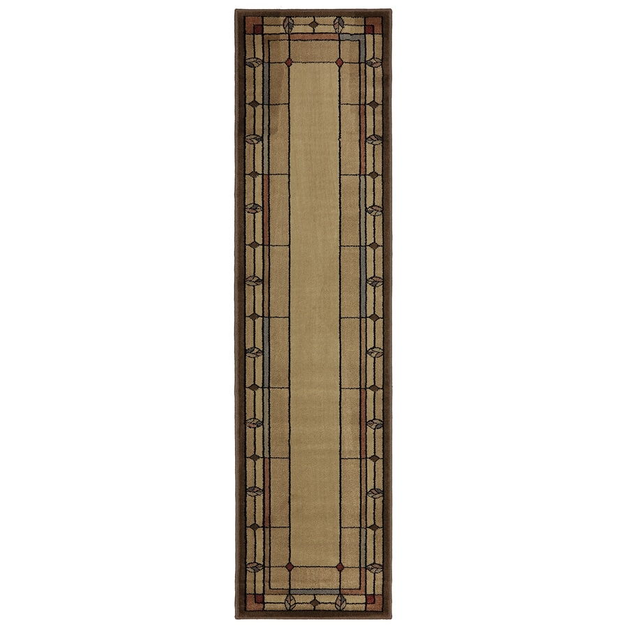 Mohawk Home Leaf Point Multi Brown Rectangular Indoor Woven Runner (Common: 2 x 8; Actual: 23-in W x 91-in L x 0.5-ft Dia)