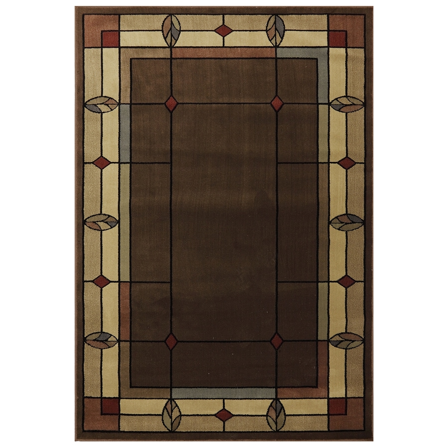 Mohawk Home Leaf Point Loden Rectangular Indoor Woven Area Rug (Common: 5 x 8; Actual: 63-in W x 91-in L x 0.5-ft Dia)