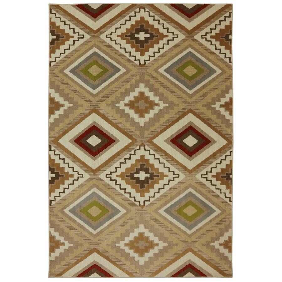 Mohawk Home Veleste Brown Rectangular Indoor Woven Area Rug (Common: 8 x 11; Actual: 96-in W x 132-in L x 0.5-ft Dia)