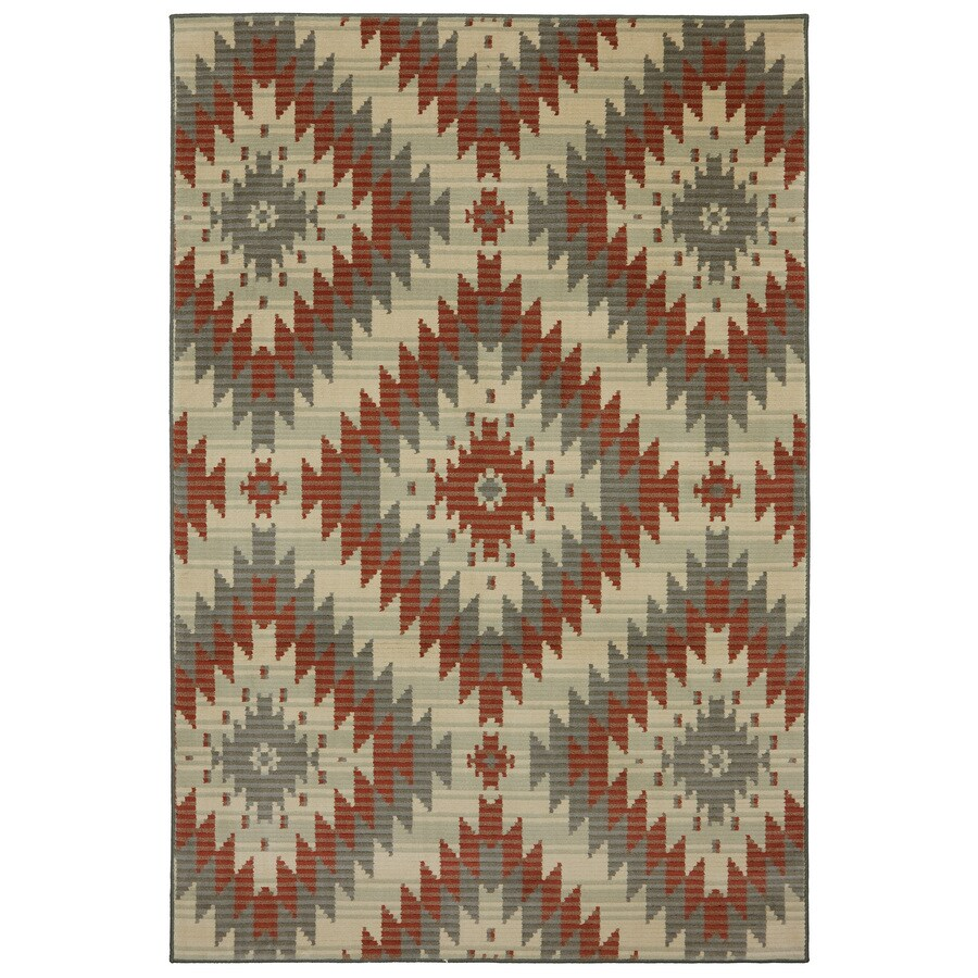 Mohawk Home Bardem-Beechnut Brown Rectangular Indoor Woven Throw Rug (Common: 2 x 4; Actual: 25-in W x 44-in L x 0.5-ft Dia)