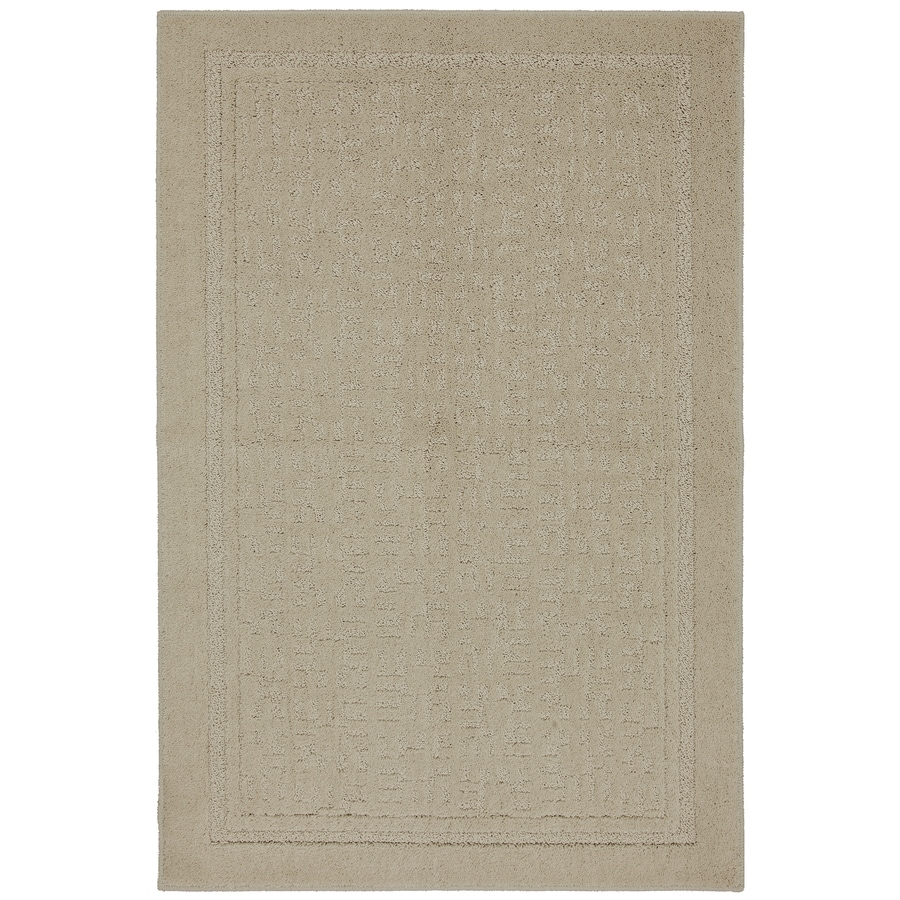 Mohawk Home Barton Brown Rectangular Indoor Tufted Throw Rug (Common: 2 x 4; Actual: 27-in W x 45-in L x 0.5-ft Dia)