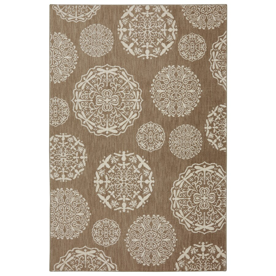 Bob Timberlake Reflections Natural Cotton Rectangular Indoor Woven Area Rug (Common: 8 x 10; Actual: 96-in W x 120-in L x 0.5-ft Dia)