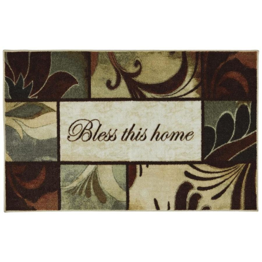 Mohawk Home Brown Rectangular Indoor Tufted Throw Rug (Common: 2 x 4; Actual: 30-in W x 48-in L x 0.5-ft Dia)