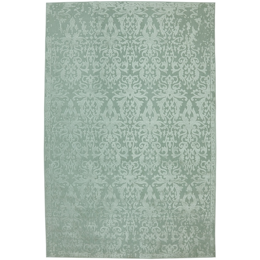 Mohawk Home Kellsway Seafoam Rectangular Indoor Woven Area Rug (Common: 5 x 8; Actual: 62-in W x 90-in L x 0.5-ft Dia)