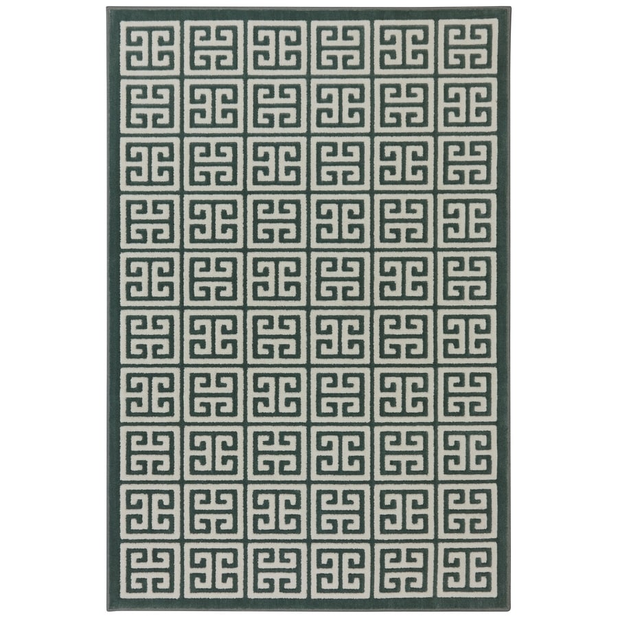 Mohawk Home Corsica Green Milieu Rectangular Indoor Woven Area Rug (Common: 8 x 10; Actual: 96-in W x 120-in L x 0.5-ft Dia)